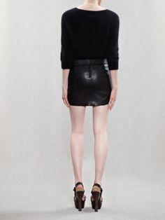 Acne/ Mimi Leather Skirt