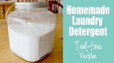 trial size homemade detergent