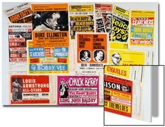 Collection of 1960's Odeon Concert Hall Bills, Including the Beach Boys, Duke Ellington, Ella? Art on Acrylic at Art.com