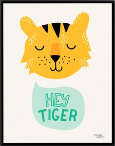 Poster - Hey tiger A4