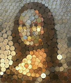Find images and videos about art, mona lisa and coins on We Heart It - the app to get lost in what you love. Monnalisa Kids, Friday Funny Images, Mona Lisa Parody, Mona Lisa Smile, Coin Art, Creative Portraits, Art Plastique, Oeuvre D'art, Funny Pictures