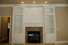Ventless Fireplace Design, Pictures, Remodel, Decor and Ideas - page 3 Fireplace Bookcase, Craftsman Fireplace, Cottage Fireplace, Old Fireplace, Black Fireplace, Farmhouse Fireplace, Fireplace Remodel, Living Room With Fireplace, Fireplace Surrounds