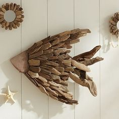 I love the Driftwood Fish on pbteen.com Three of these will be on my blank wall!