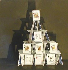 building a house of cards-I loved building card houses
