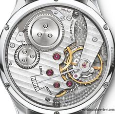 """Some watches have also beautiful """"rear views"""" like this of the IWC FA Jones 98.300 caliber. Manual wind that sounds like music for the ears."""