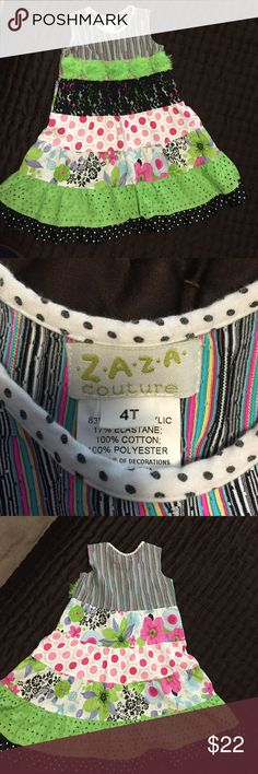 Zaza Couture Girls Dress.  Size 4T. Zaza Couture Girls Dress.  Size 4T.  Excellent condition.  This is any girls dream dress, adorable!! Zaza Couture Dresses