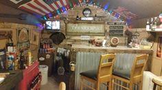 My pub shed / mancave Backyard Bar, Backyard Ideas, Shed Makeover, Bar Shed, Pub Sheds, Garage Bar, Brew Pub, Cottage Ideas, Man Stuff