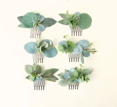 - Mini eucalyptus comb Bridesmaid hair comb Bridal hair accessory Greenery hair clip Eucalyptus h - Hair Comb Wedding, Wedding Veils, Wedding Dresses, Hair Vine, Floral Hair, Wedding Hair Accessories, Bride Hairstyles, Bridal Headpieces, Flowers In Hair