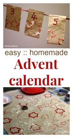 Love this easy homemade Advent calendar idea - with 24 printable kids' Christmas jokes too   NurtureStore: inspiration for kids