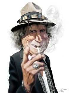 Keith Richards (b. 1943 dec 69 in Rolling Stones caricatures by Marco Calcinaro by Janny Dangerous Keith Richards, Funny Caricatures, Celebrity Caricatures, Celebrity Drawings, Cartoon Drawings, Cartoon Art, Cartoon Faces, Rolling Stones, Beatles