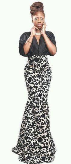 Love the mermaid style. #ItsAllAboutAfricanFashion #AfricanPrints #kente #ankara…