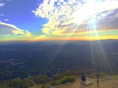 Echo Mountain via the Sam Merrill Trail - Altadena, CA, United States. View from the top, near sunset