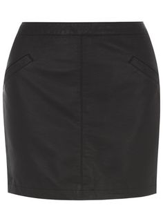 Black PU Pocket Mini Skirt