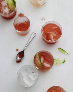 pictures and pancakes: summer cool down ~ strawberry cucumber cocktail