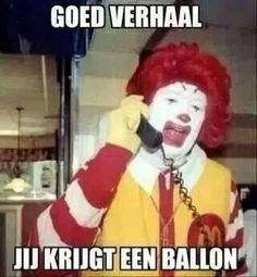 Goed verhaal, jij krijgt een ballon
