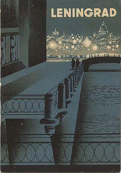 "Travel ""Leningrad,"" circa 1931.  Published by Intourist.  Designed by Nikolai N. Jukov"