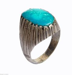 orient afghanistan massiv silber Türkis Ring persien silver turquoise ring Nr447