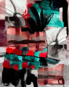 Mixed media abstract art by Gina Startup