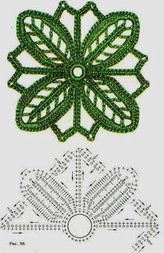 örgü çiçek motifleri