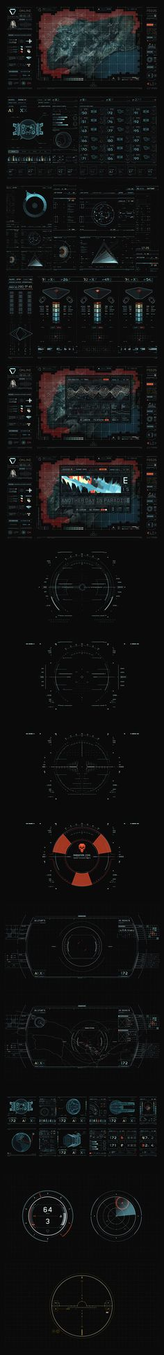 "UI elements from the movie ""Oblivion."""