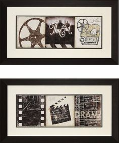 """""""The End"""" and """"The Drama"""" Theater Wall Art Pair by Stargate Cinema. $159.99…"""