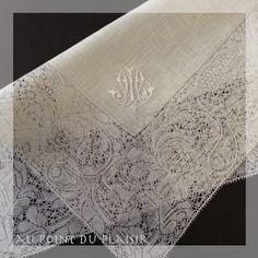 *Au point du plaisir* bobbin lace, binche lace, embroidery