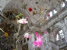 Falling Garden installation by Gerda Steiner and Jorg Lenzlinger