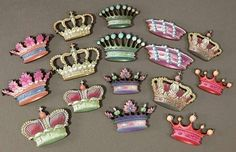 Mini Wooden Crowns Fancy Royal Style by porkchopshow on Etsy