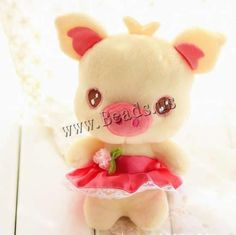Plush Pig Doll, 200mm, 10PCs/Lot, Sold By Lot