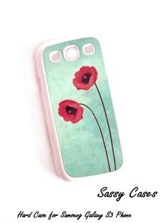 Accessory Case for Samsung Galaxy S3 Red Poppies Hard Case. $16.50, via Etsy.