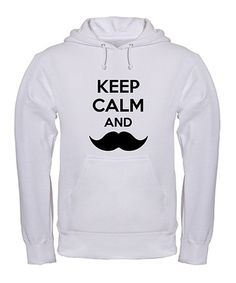 Take a look at this Black  amp  White  Keep Calm and Mustache  Hoodie d75247b1ac4