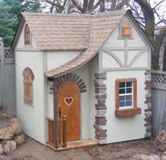 "Adorable playhouse complete with insulated walls and electricity, but worth a semester or so in college... I don't know (LoL); FancyBuilder.com ""Isabelle's Chalet"" $7000"