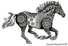 Tribal Horse by Janelle-Dimmett