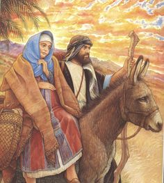 Mary and Joseph 3 Reyes, Jesus Mary And Joseph, Christian Images, Lord Is My Shepherd, Birth Of Jesus, Baby Jesus, The Donkey, Holy Family, Blessed Mother
