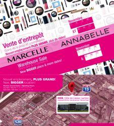 Vente de maquillage Marcelle et Annabelle:  tout à 2.25$!