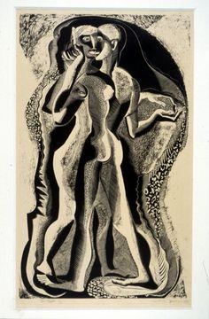 Two people | Gertrude Hermes | 1933 | Wood engraving