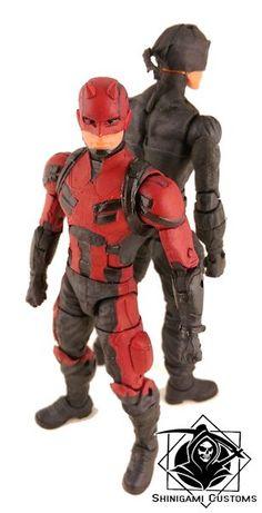 Daredevil - Netflix Red (Avengers) Custom Action Figure