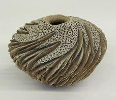 Studio art pottery Lovera raku