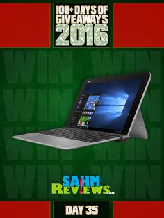 Yes, you're seeing this right! Day 35 is a $400 ASUS Laptop! Go enter now!