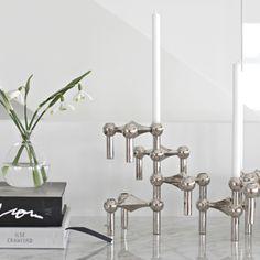 trendsisters.se - Nagel ljusstake Stoff i silver