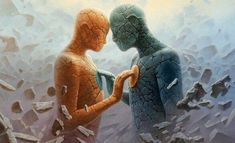 How to make a twin flame relationship work? Twin flames relationships are recklessly unpredictable. When the flames come to each other, their Relation D Aide, Twin Flame Relationship, Twin Souls, Soul Connection, In A Heartbeat, Oil On Canvas, Twins, Finding Yourself, This Or That Questions