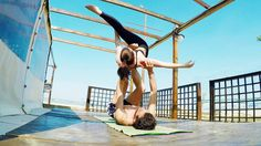 #Acroyoga #Beach Flow FRANCY & PiZKA - #acrobatics #dance #fitness #motivation from #Ancona with Love!!!
