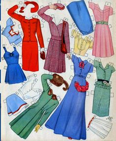 All Size Dolls by Queen Holden (8 of 10), 1945 Whitman #982  |  Las Recortables de Veva e Isabel