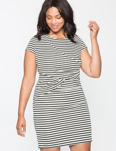 49dcb39ae9 View our Striped Knit Dress and shop our selection of plus size designer women s  Dresses