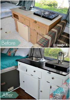 Pop Up Camper Makeover Ideas. If you wish to stay informed about our camper remodel, take a look here. Before you set your camper away for the season, you're want to take precautio. Camper Hacks, Diy Camper, Camper Trailers, Camper Ideas, Camper Life, Travel Trailers, Rv Travel, Caravan Hacks, Camper Storage