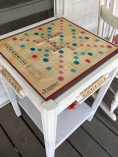 Make a Scrabble Game Table -- Do you have that old Scrabble board game that just sits in the closet collecting dust? Well, I did but not anymore. Find out how I turned this old table into a permanent Scrabble game board for anyone to sit on our front porch and play.