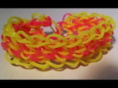 Rainbow Loom Mini SHERBET Bracelet (Reversible). Designed and loomed by Cheryl Mayberry. Click photo for YouTube tutorial. 05/23/14.