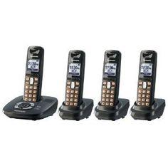 PANASONIC Panasonic Dect 6.0 4-Handset Cordless Phone with Answering Machine (KX-TG6434T) - PAN6434B by Panasonic. $95.00