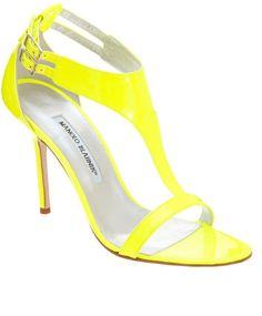 Manolo yellow heel