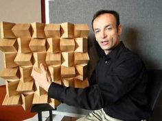 Wood decorative acoustic diffuser: SWET-S 3D DIFFUSER